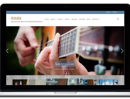 Amala Harp and Guitar Music