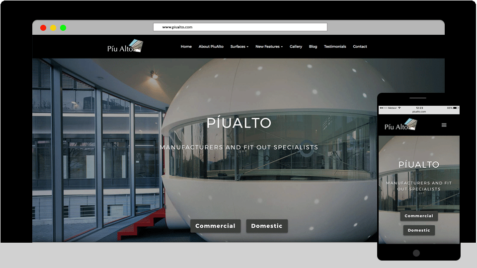 PiuAlto Manufacturers and Fit Out Specialists